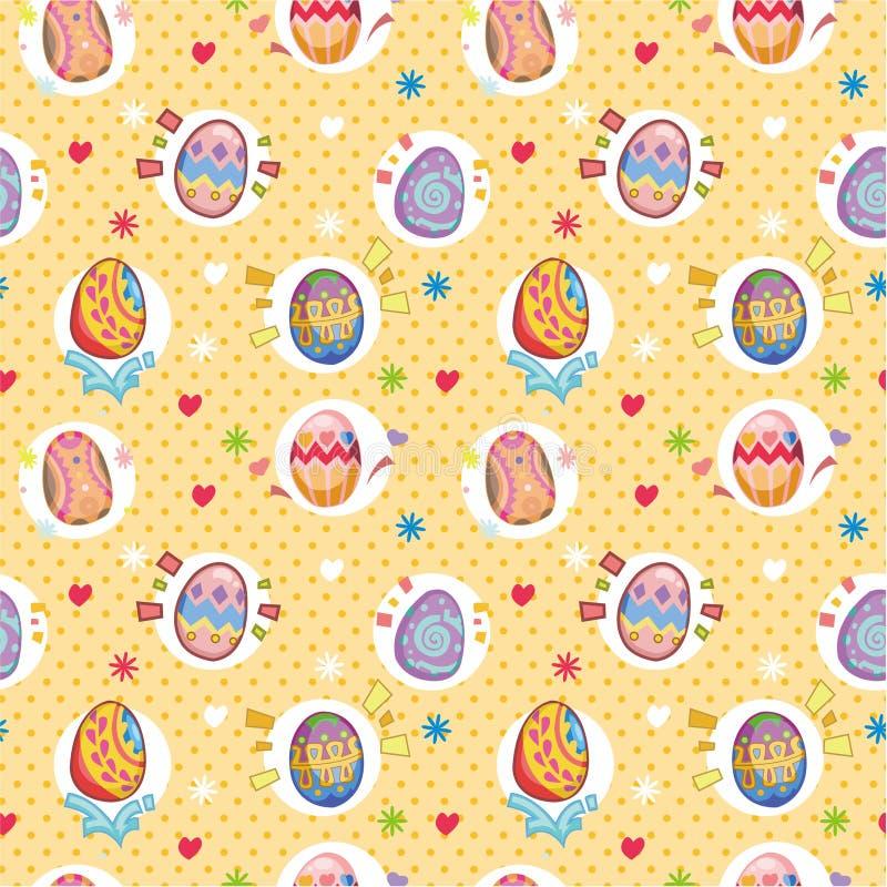 Teste padrão sem emenda do ovo de easter ilustração do vetor