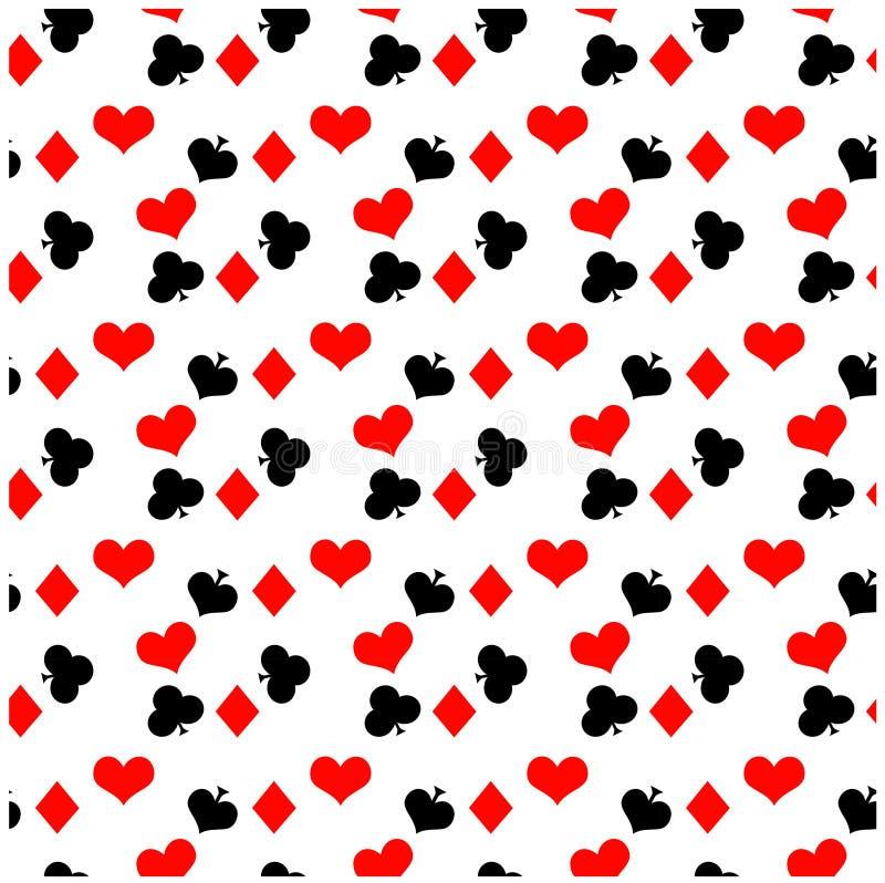 Teste padrão sem emenda do póquer imagens de stock