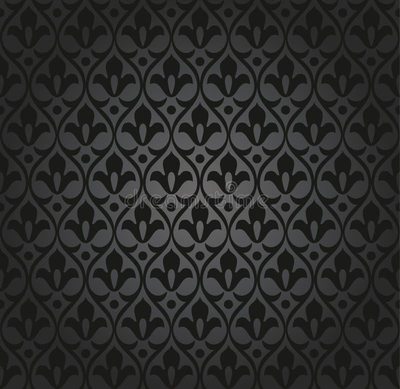 Teste padrão sem emenda do papel de parede ilustração do vetor