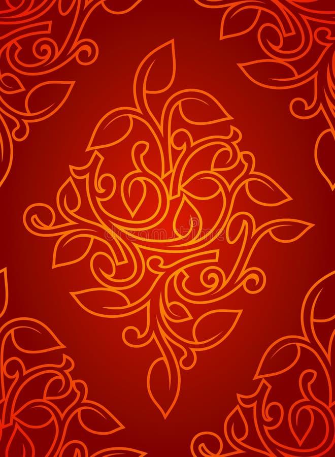 Teste padrão sem emenda do papel de parede ilustração royalty free