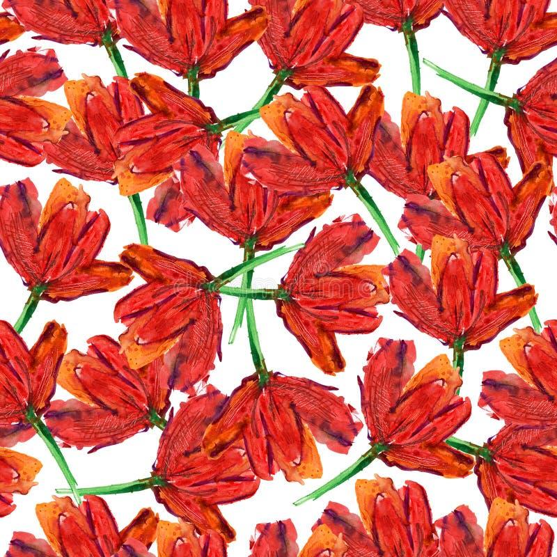 Teste padrão de flores abstrato ilustração do vetor