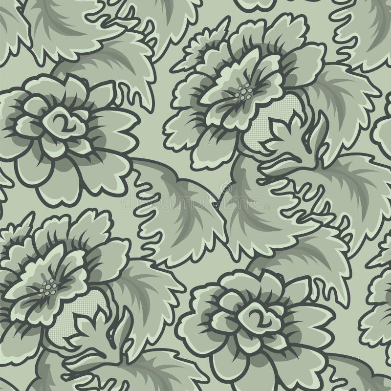 Teste padrão sem emenda do papel de parede do vintage ilustração do vetor
