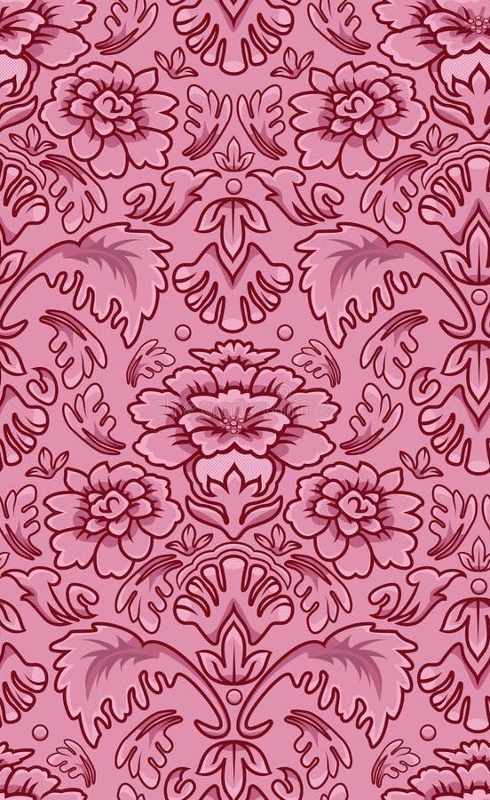 Teste padrão sem emenda do papel de parede do vintage ilustração stock
