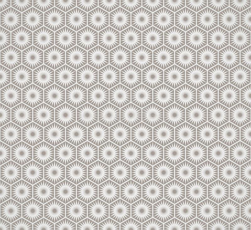 Teste padrão sem emenda do papel de parede do vintage de Art Deco ilustração do vetor