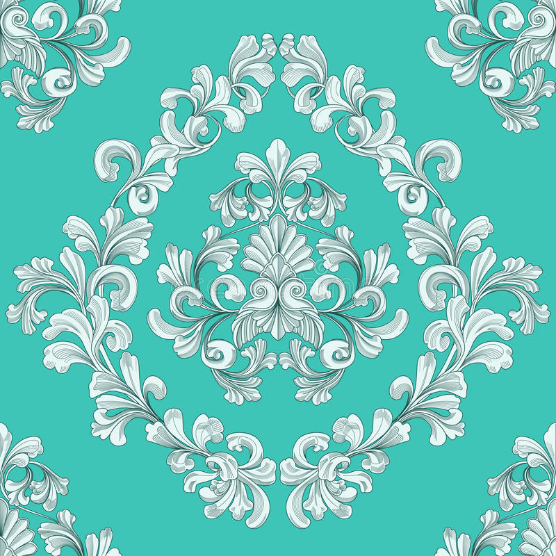 Teste padrão sem emenda do papel de parede floral da telha ilustração do vetor