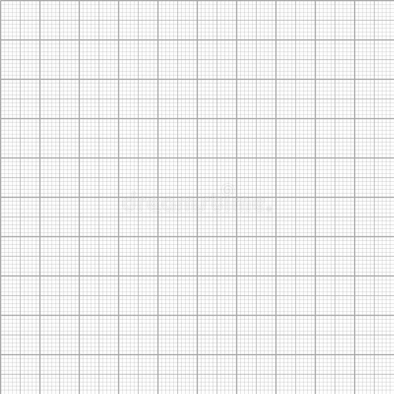 Teste padrão sem emenda do papel do milímetro do gráfico do vetor ilustração royalty free