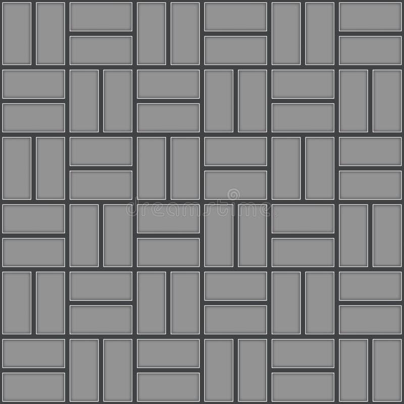 Teste padrão sem emenda do pavimento ilustração stock