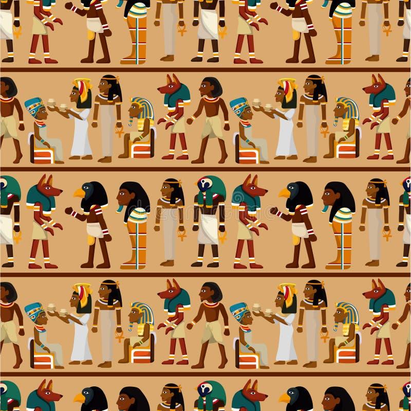Teste padrão sem emenda do pharaoh ilustração royalty free