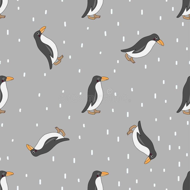 Teste padrão sem emenda do pinguim ilustração royalty free