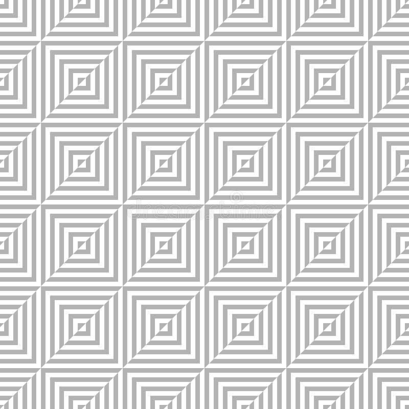 Teste padrão sem emenda do polígono geométrico Projeto gráfico da forma Ilustração do vetor Projeto do fundo Ilusão ótica 3D Styl ilustração stock