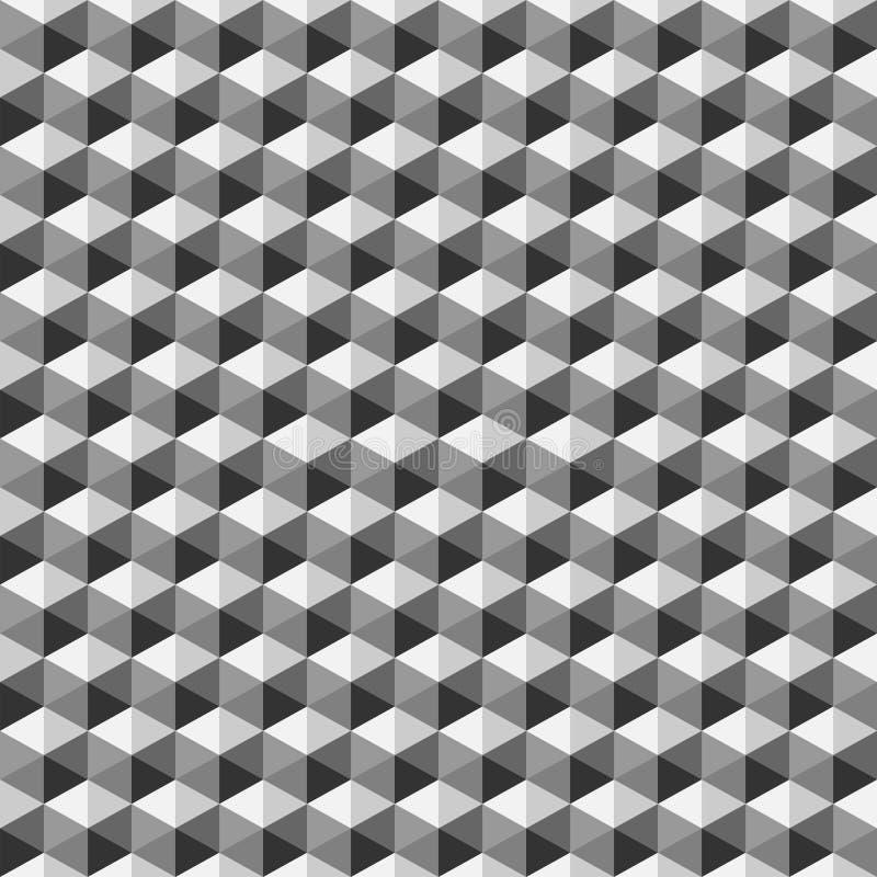 Teste padrão sem emenda do polígono geométrico Projeto gráfico da forma Ilustração do vetor Projeto do fundo Stylis modernos ótic ilustração stock