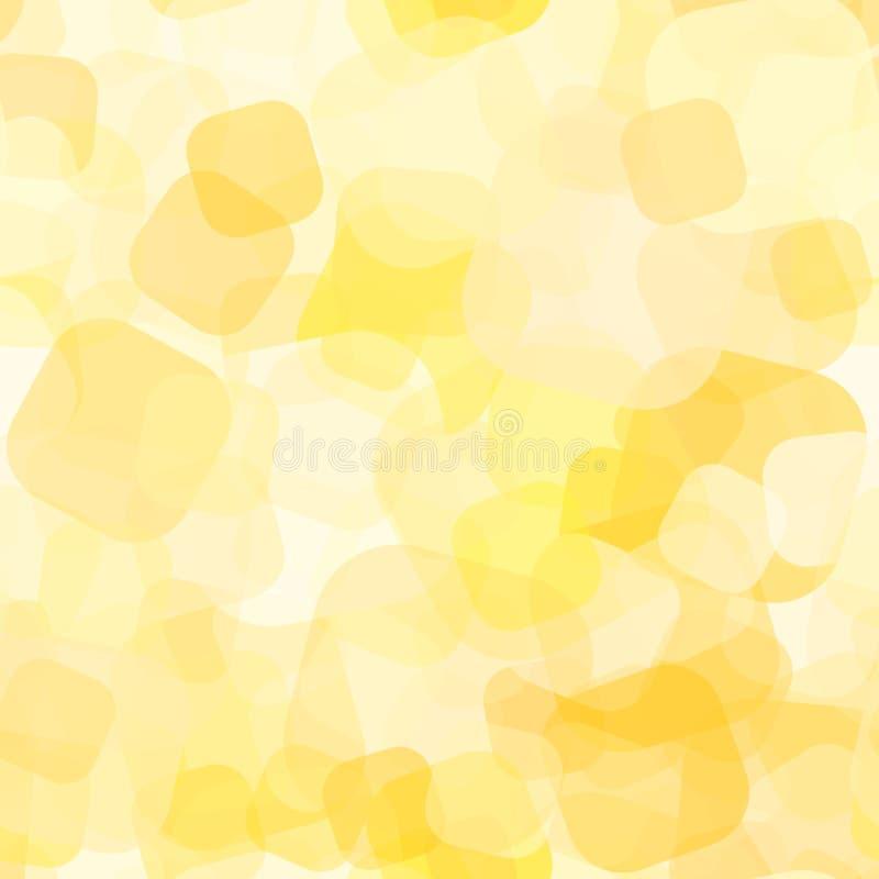 Teste padrão sem emenda do ponto amarelo ilustração do vetor