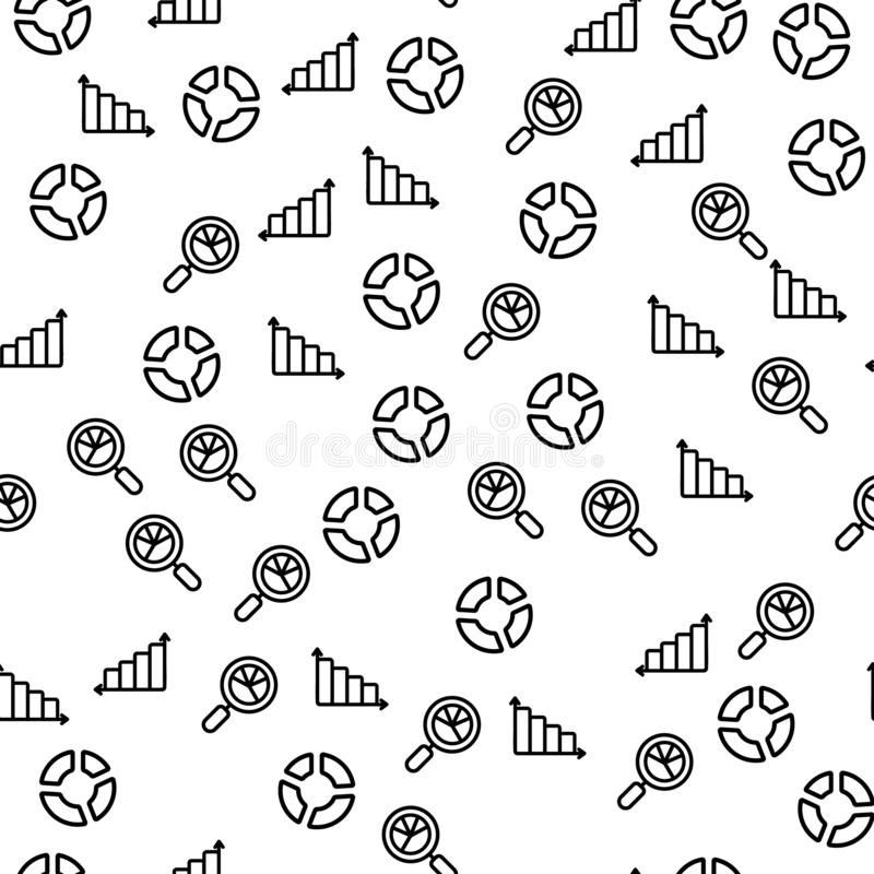 Teste padrão sem emenda do relatório de Data Center da carta do diagrama ilustração royalty free