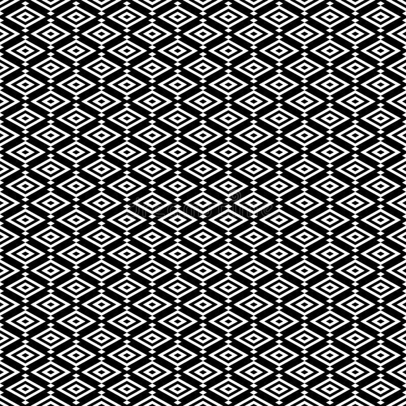 teste padrão sem emenda do rhonbus geométrico Projeto gráfico da forma Ilustração do vetor Projeto do fundo Ilusão ótica 3D Estil ilustração stock