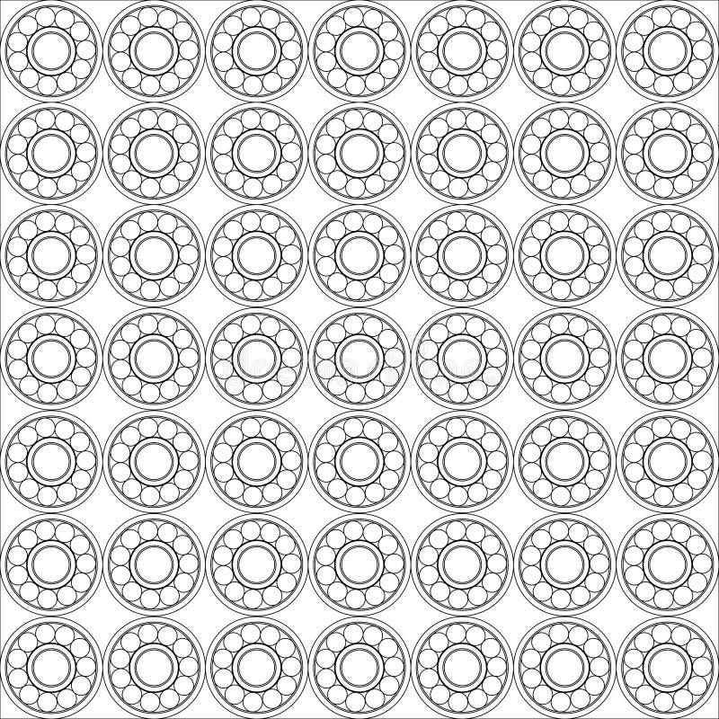 Teste padrão sem emenda do rolamento de esferas ilustração stock