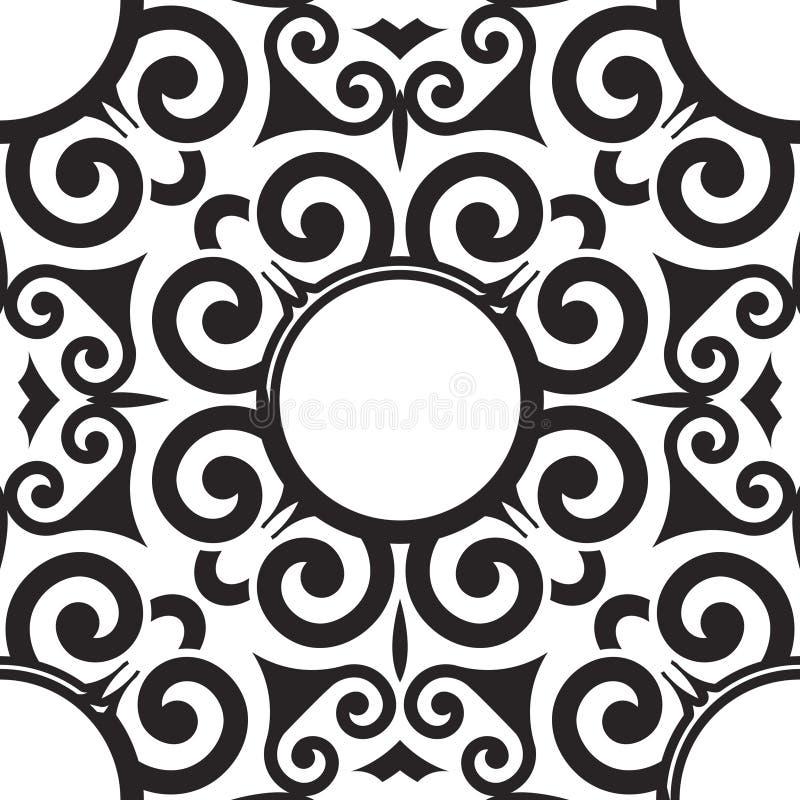 Teste padrão sem emenda do rolo do vetor para o projeto de matéria têxtil ilustração royalty free