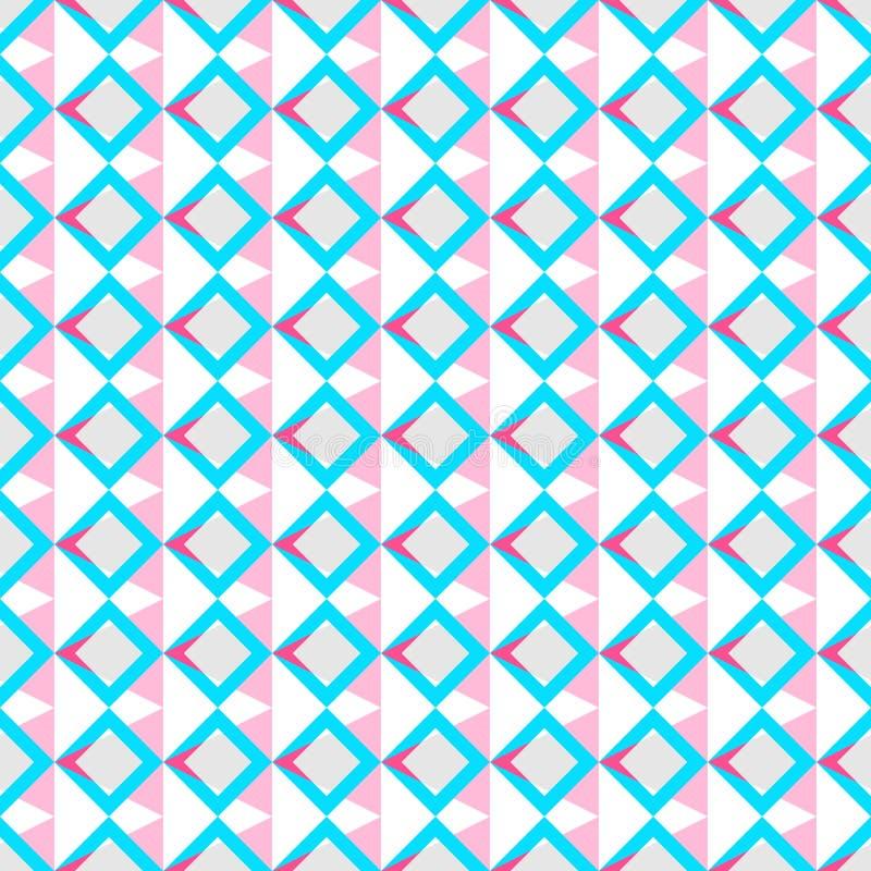 Teste padr?o sem emenda do rosa colorido da cor pastel do backgroundin da textura, azul geom?trico, cinzento, vermelho, branco, d ilustração stock