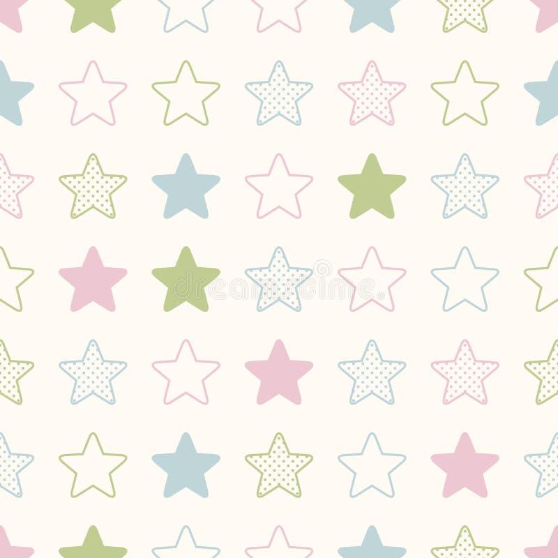 Teste padrão sem emenda do símbolo das estrelas ilustração do vetor