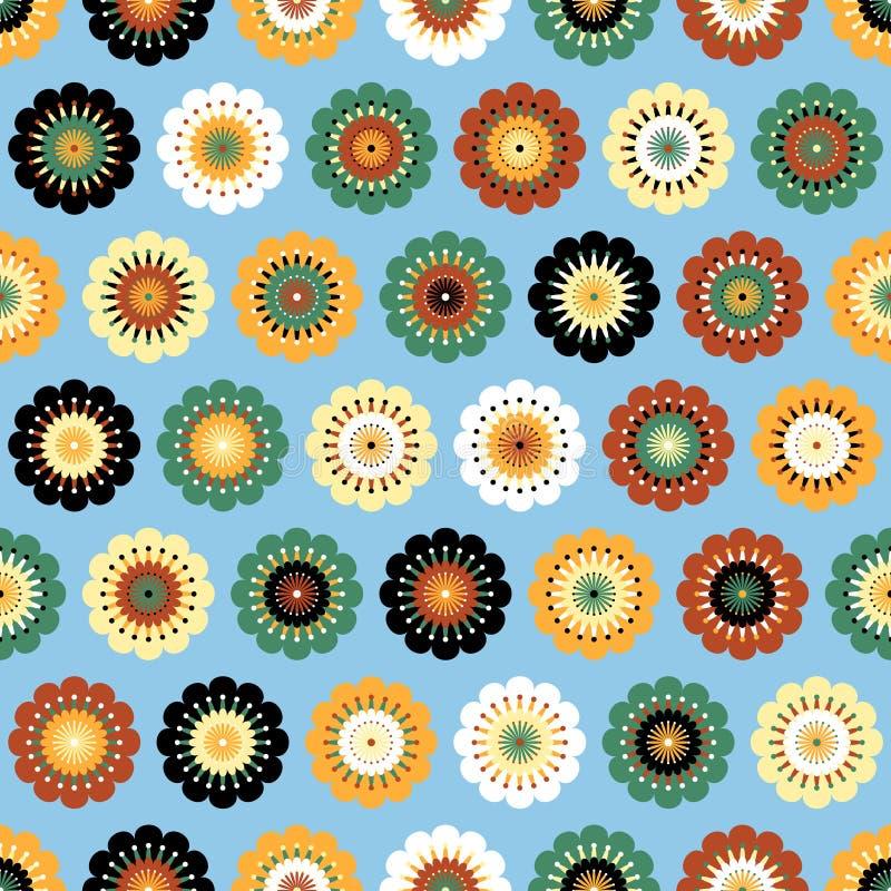 Teste padrão sem emenda do sumário Funky das flores ilustração do vetor
