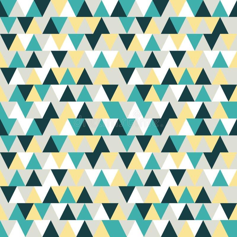 Teste padrão sem emenda do triângulo Fundo do triângulo Abstra geométrico fotos de stock