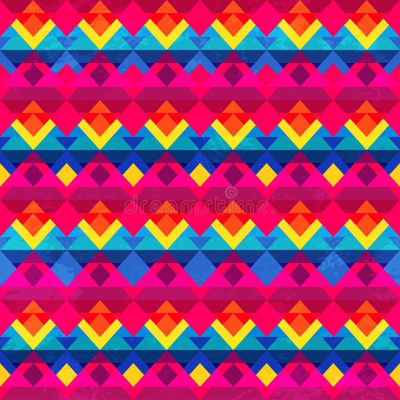 Teste padrão sem emenda do triângulo psicadélico ilustração do vetor