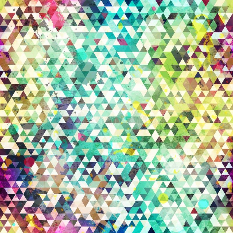 Teste padrão sem emenda do triângulo psicadélico ilustração stock