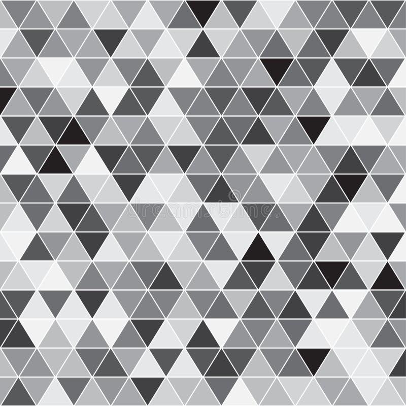 Teste padrão sem emenda do triângulo Textura geométrica Fundo do vetor ilustração stock