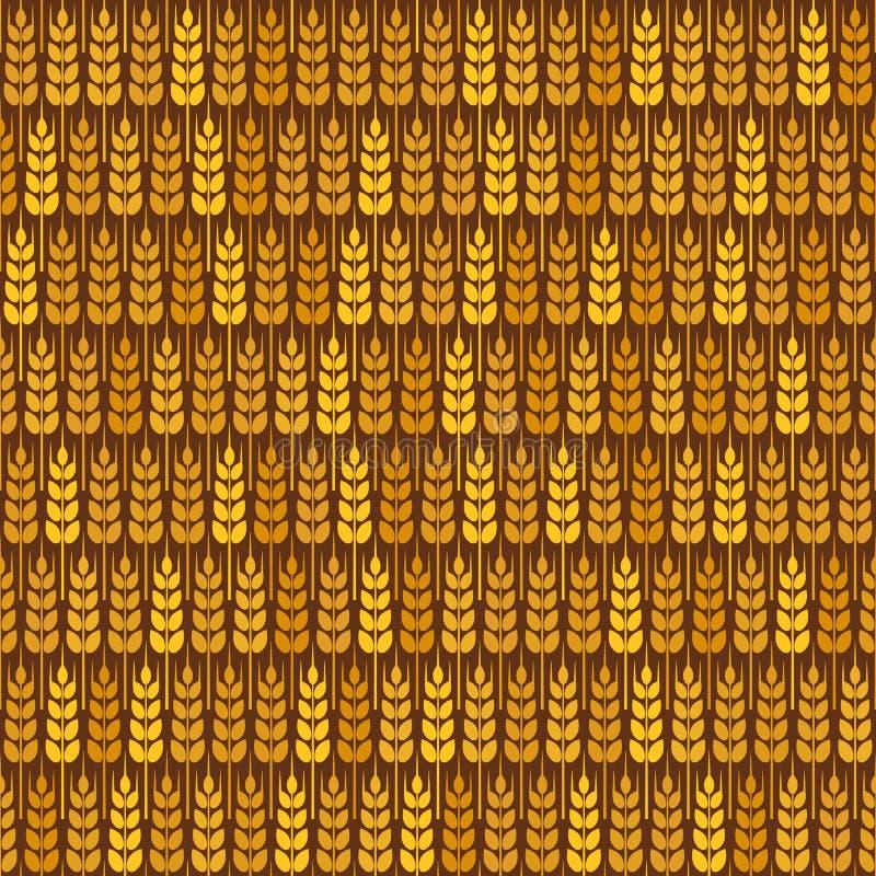 Teste padrão sem emenda do trigo dourado ilustração do vetor