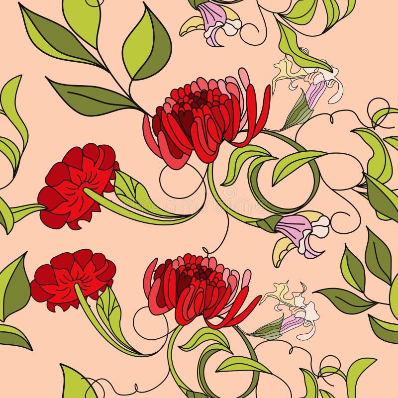 Teste padrão sem emenda do verão colorido ilustração do vetor
