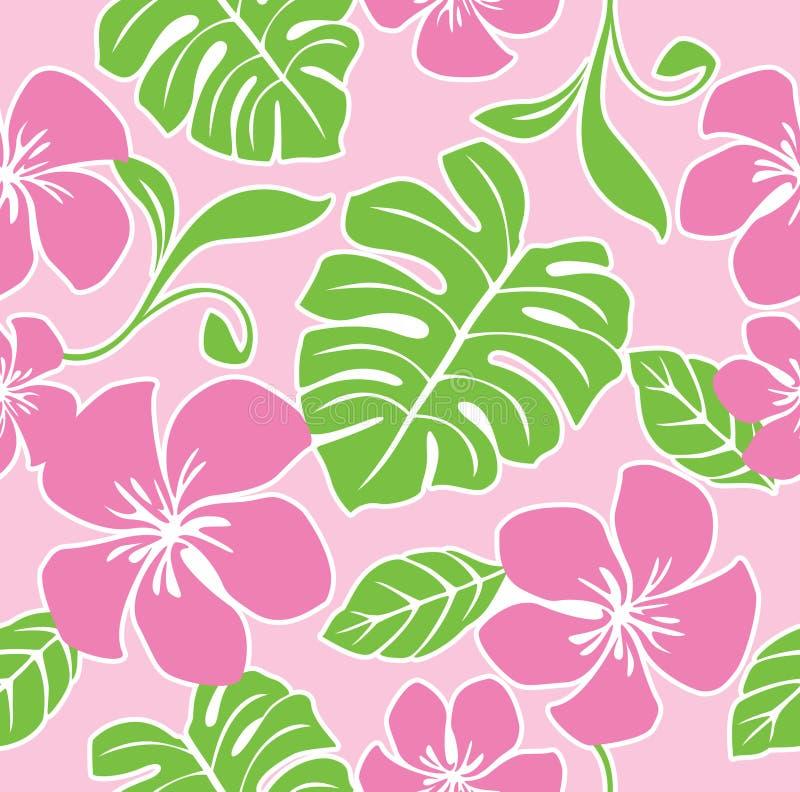 Teste padrão sem emenda do verão de Havaí ilustração royalty free