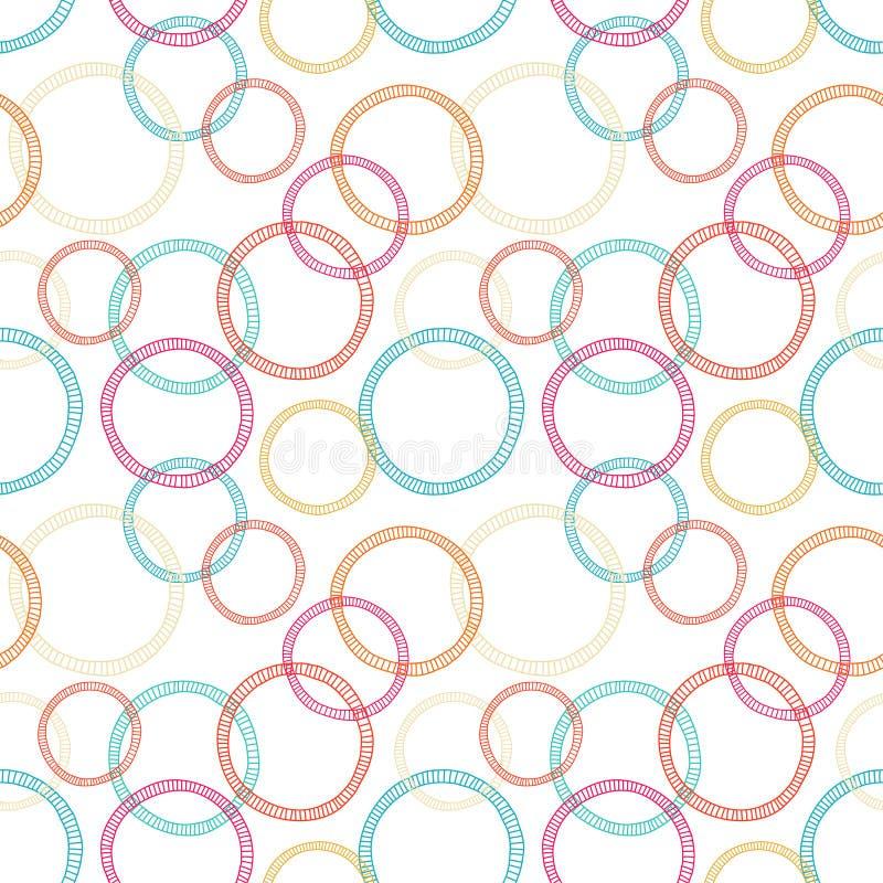 Teste padrão sem emenda abstrato com círculos ilustração stock