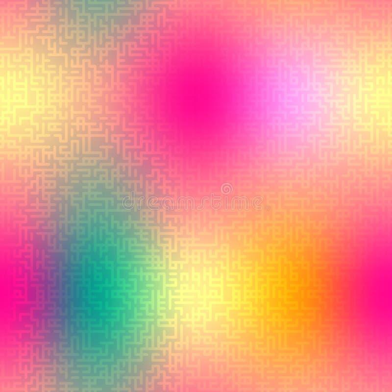 Teste padrão sem emenda do vetor abstrato com textura do labirinto ilustração do vetor