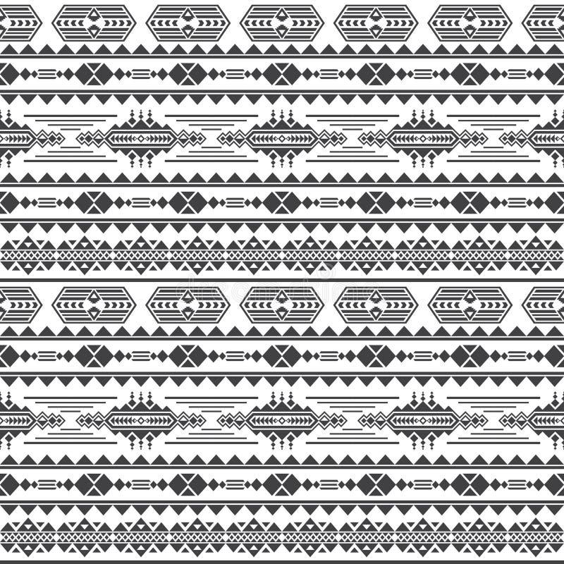 Teste padrão sem emenda do vetor asteca da cultura Fundo infinito do maya mexicano ilustração do vetor