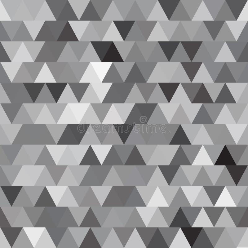 Teste padrão sem emenda do vetor cinzento com triângulos abstraia o fundo ilustração royalty free