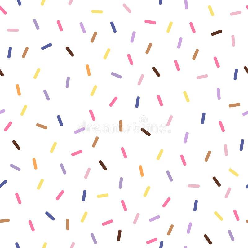 Teste padrão sem emenda do vetor colorido com confetes ilustração stock