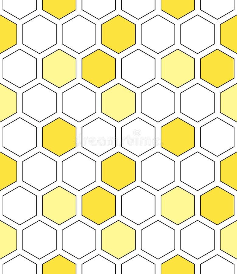 Teste padrão sem emenda do vetor colorido da grade do favo de mel ilustração royalty free