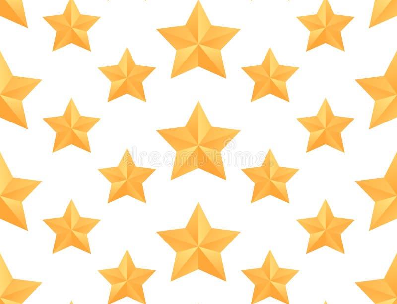 Teste padrão sem emenda do vetor com as estrelas de papel do origâmi ilustração royalty free