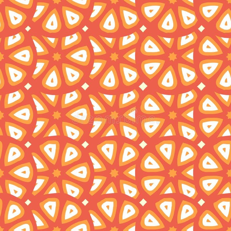 Teste padrão sem emenda do vetor com cortes abstratos dos citrinos ou do tomate ilustração royalty free