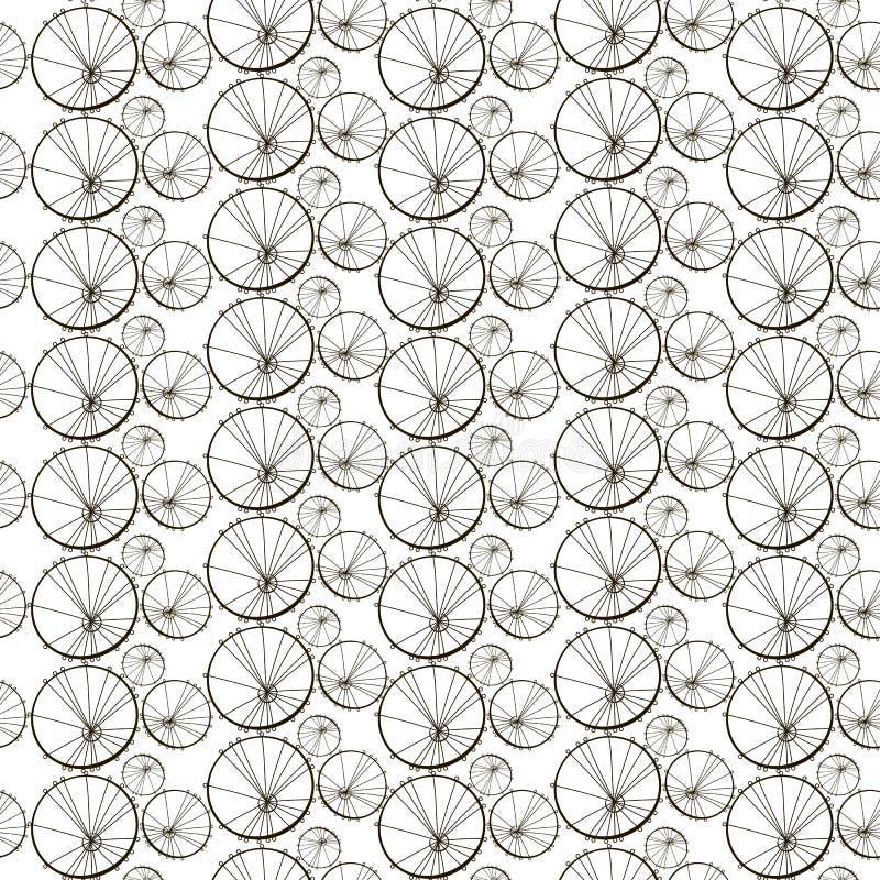 Teste padrão sem emenda do vetor com dentes-de-leão Cópia estilizado para a matéria têxtil, papel de envolvimento ilustração do vetor