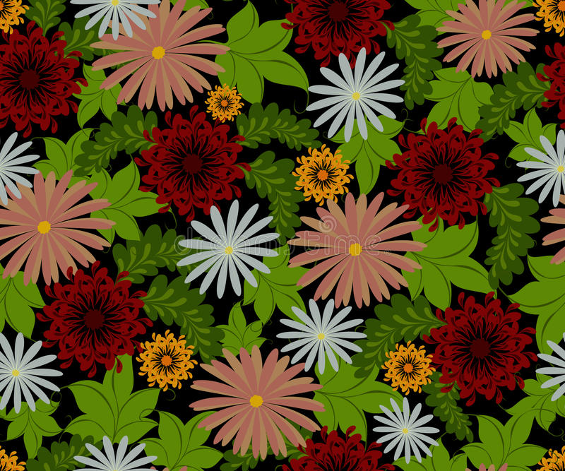 Teste padrão sem emenda do vetor com flores Ilustração do vetor EPS10 ilustração stock