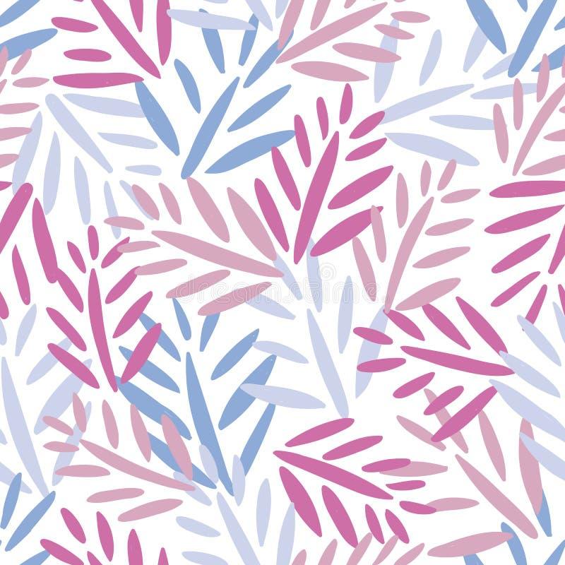 Teste padrão sem emenda do vetor com teste padrão sem emenda na moda da selva tropical com folhas de palmeira exóticas, ramos da  ilustração do vetor