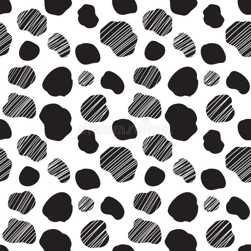 Teste padrão sem emenda do vetor com textura manchada da vaca ilustração do vetor