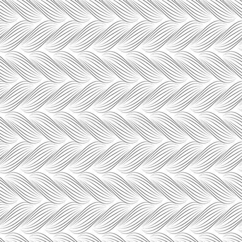 Teste padrão sem emenda do vetor com tranças A textura do fio com linha pontilhada entrança o close-up Fundo decorativo abstrato  ilustração do vetor
