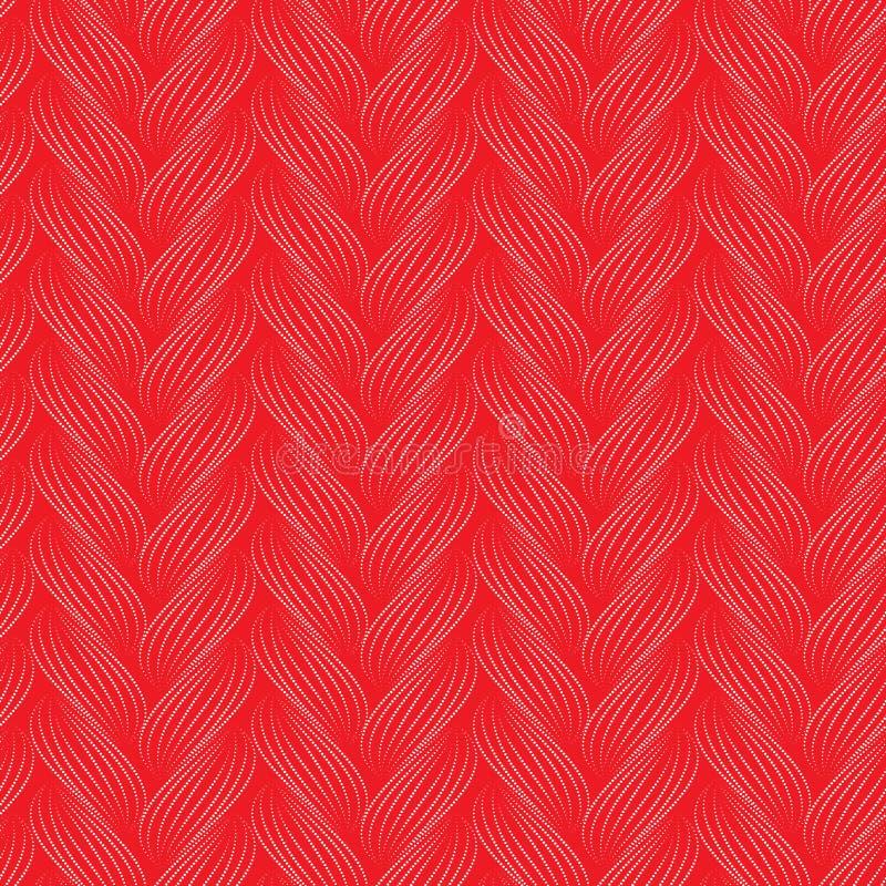 Teste padrão sem emenda do vetor com tranças A textura do fio com linha pontilhada entrança o close-up Fundo decorativo abstrato  ilustração stock