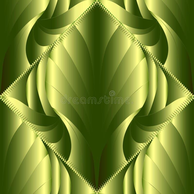 teste padrão sem emenda do vetor 3d moderno abstrato Orna modelado verde ilustração royalty free
