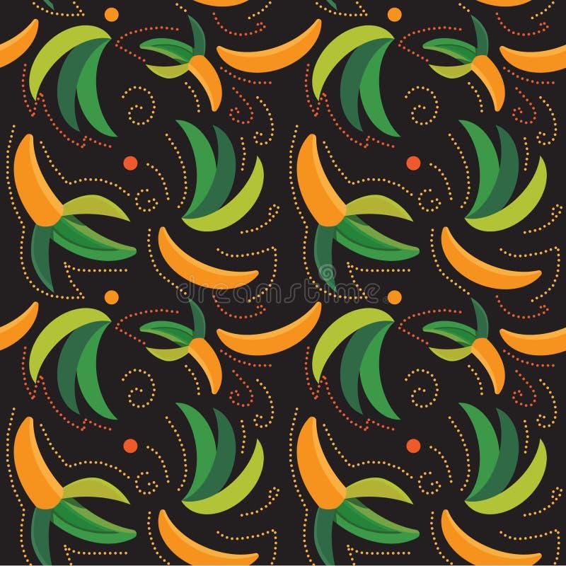 Teste padrão sem emenda do vetor da banana madura ilustração royalty free
