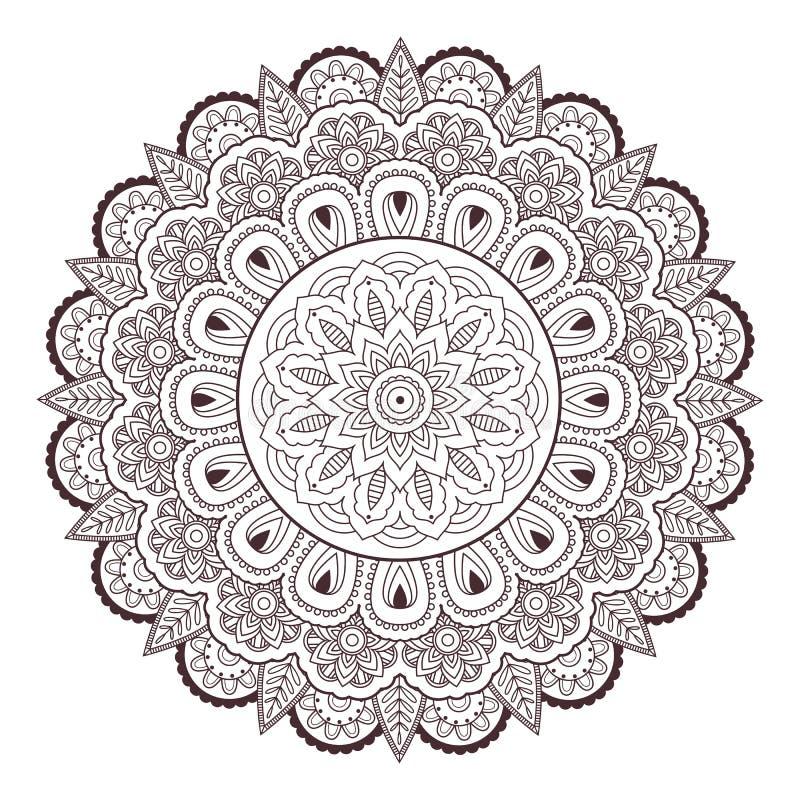 Teste padrão sem emenda do vetor da garatuja da tatuagem do mehndi de paisley da hena ilustração do vetor