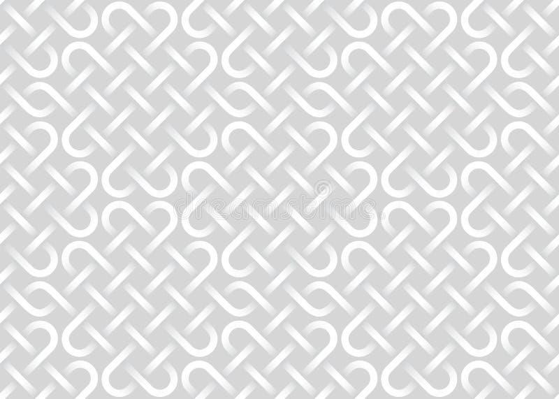 Teste padrão sem emenda do vetor de faixas de entrelaçamento textura branca ilustração do vetor