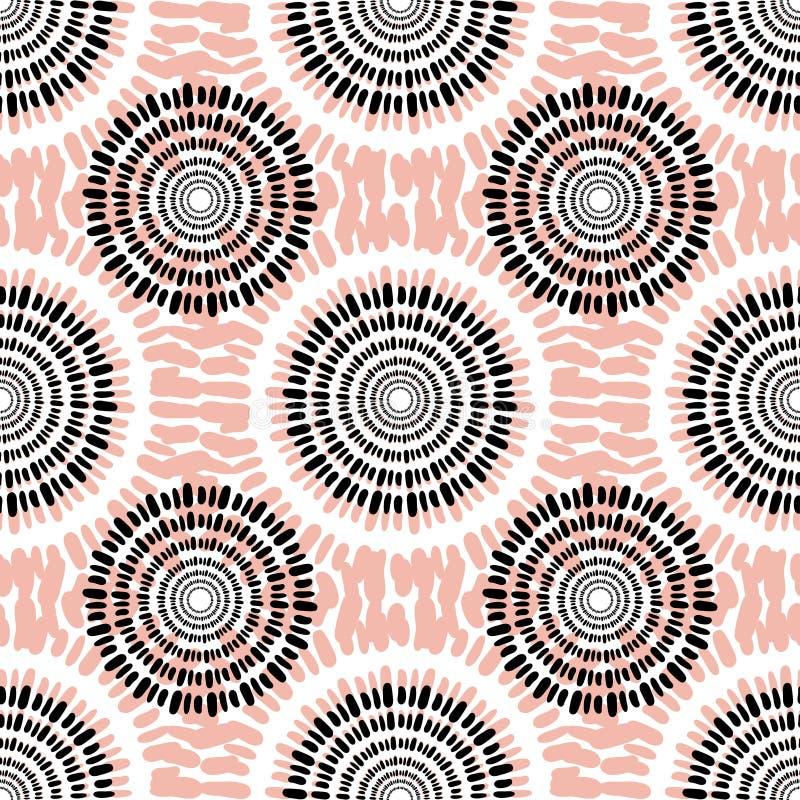 Teste padrão sem emenda do vetor de matéria têxtil Textura ocasional do fundo da forma ilustração royalty free