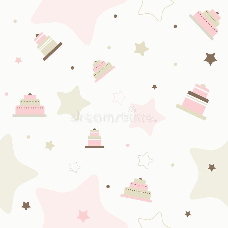 Teste padrão sem emenda do vetor do bolo